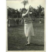 1929 Press Photo Virginia Van Wie in Florida Women's Gold Championship