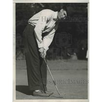 1937 Press Photo Claude L Rippy at National Public Links golf in San Francisco