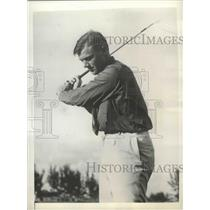 1936 Press Photo Charles Whitehead at Miami Tropics Open golf tournament