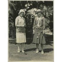 1929 Press Photo Women's National golf Leona Pressler, Glenna Collette in CA