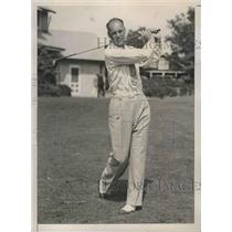 1936 Press Photo Al Nelson in New Jersey State golf championships - nes53645