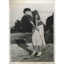 1937 Press Photo Mrs Charles Newbold at Women' sNational Amateur golf in TN