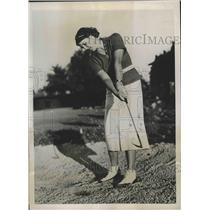 1937 Press Photo Mrs Charles Newbold at Women's National Amateur golf in TN