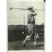 1931 Press Photo British golfer R Cox at tournament at Southport England