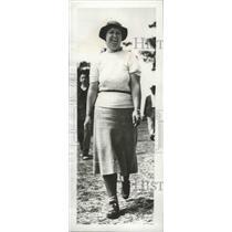 1938 Press Photo Estelle Lawson Page at North & South golf Pinehurst NC