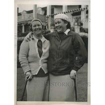 1938 Press Photo Estelle L Page, Dorothy Traung 42nd Women's Amateur golf in ILL