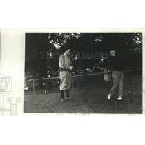 1938 Press Photo Johnny Goodman, Harry Givan at National Amateur golf in PA