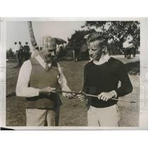 1934 Press Photo Gene McCarthy, Henry Russell at Miami Biltmore golf in Florida