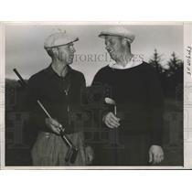 1937 Press Photo Don Erickson, Andrew Szweoko National Public Links golf in CA