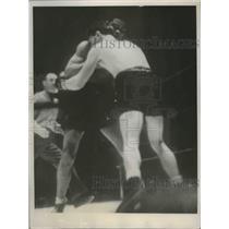 1937 Press Photo Joe Louis versus Bob Pastor at Madison Square Garden