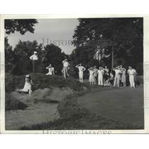1938 Press Photo Mrs William Hockenjos, Charlotte Glutting Shawnee PA golf