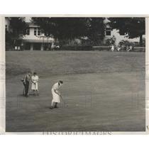 1938 Press Photo Mrs William Hockenjos at Shawnee on Delaware PA golf