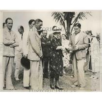 1937 Press Photo Morton McCarthy, Nassau Amateur golf, Gov & Mrs Charles Dundas