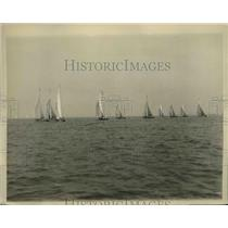 1927 Press Photo Annual Regatta of Huguenot Yacht Club Long Island Sound NY