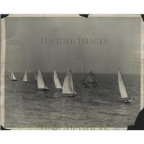 1930 Press Photo White Wings of Pacific Racing Off Newport Bay Near Los Angeles