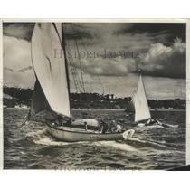 1931 Press Photo Annual Ham Island Sailing Race on Puget Sound - ney26271
