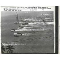 1963 Press Photo Part of 52 Power Boat Race From Miami to Nassau - ney26348