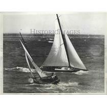 1936 Press Photo Choppy Seas for Yacht Race St Kildea Melbourne Australia