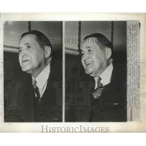 1950 Press Photo Joe McCarthy Boston Red Sox Manager during an interview