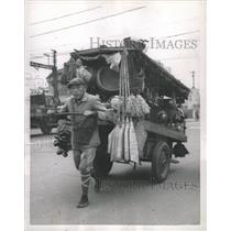 1952 Press Photo Street Vendor Cart Tokyo