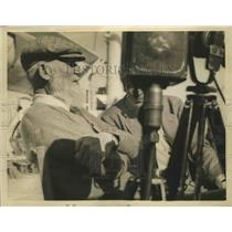 1936 Press Photo George Bernard Shaw British Wit and Writer Answering Questions