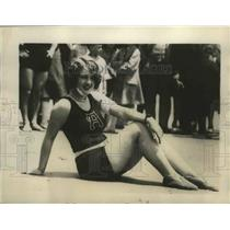 1926 Press Photo Heenan Browning as She Appeared on the Beach in Atlantic City