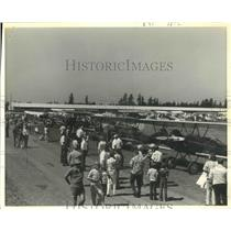 1977 Press Photo Antique Airplane Festival, Washington - ftx01658
