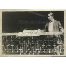 1928 Press Photo Edward R Armstrong with Armstrong Seadrome Development Company