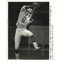 1986 Press Photo New Orleans Saints - Robert Thompson at training camp.