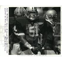 1986 Press Photo New Orleans Saints - Whitney Paul at practice at training camp.