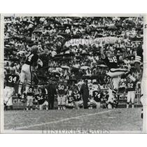 1968 Press Photo New Orleans Saints- Ernie Kellerman (l) Bob Matheson go flying.