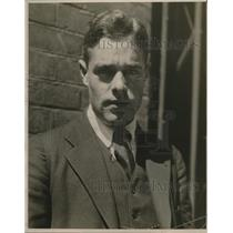 1922 Press Photo John Strochau, Tennis Player - nef54658