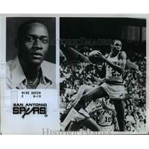 Press Photo Mike Green of the San Antonio Spurs - orc10342