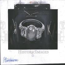 1960 Press Photo Star Sapphire Ring Jewelry