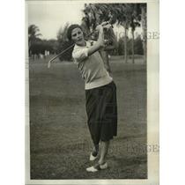 1931 Pres Photo Mary E. Sykes During Opening Day of Play in Women's Golf Tourney
