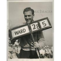 1939 Press Photo Marvin Bud Ward at National Open golf in Philadelphia PA