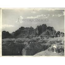 1935 Press Photo Glimpse badlands South Dakota scenic