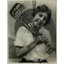 1929 Press Photo Marie Sanchey of Hollywood Lacrosse Team - nef41691