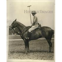 1927 Press Photo Major Eric Atkinson Of British India Polo Team - net32308