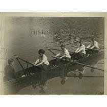1926 Press Photo Cornell coed rowers F Mount, E Christenson, D Knapten