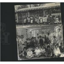 1918 Press Photo Shelter house Nursery Children Pretty