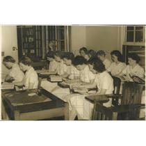 1939 Press Photo Nursing Classroom Students Probation
