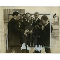 1927 Press Photo Denny Dawson, John B Sosnowski, George Welsh, G Blanks Jr