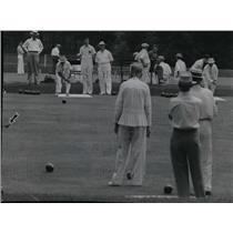 1941 Press Photo The intercity lawn bowling match between Milwaukee and Chicago