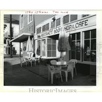 1990 Press Photo Bookstores- The Abstract Bookstore and Café.