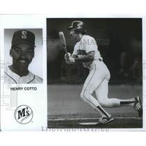 1990 Press Photo Seattle Mariners baseball player, Henry Cotto - sps00159