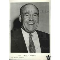 1961 Press Photo Hockey Assistant Manager and Coach Frank Clancy with Toronto