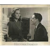 "1950 Press Photo Actors Michele Morgan, Jean Desailly in ""Symphonie Pastorale"""
