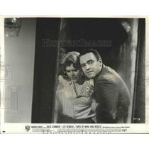 """1963 Press Photo Actors Jack Lemmon, Lee Remick in """"Days of Wine and Roses"""""""