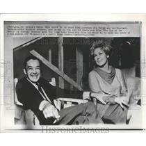 "1965 Press Photo Actors Kim Novak, Richard Johnson on ""The Eye of the Devil"" Set"